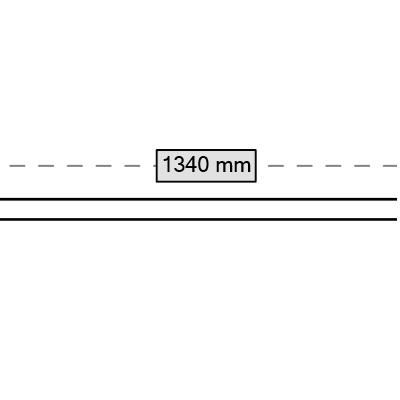 rura 1340 mm