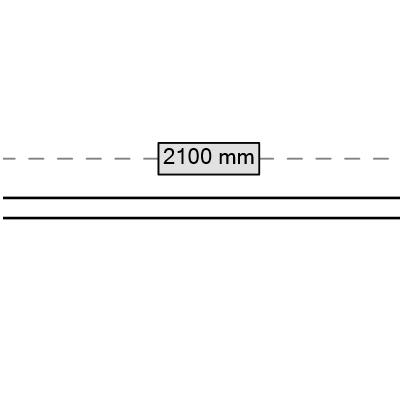 rura 2100 mm